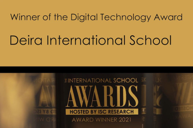 DIS awarded for Digital Technology in Learning